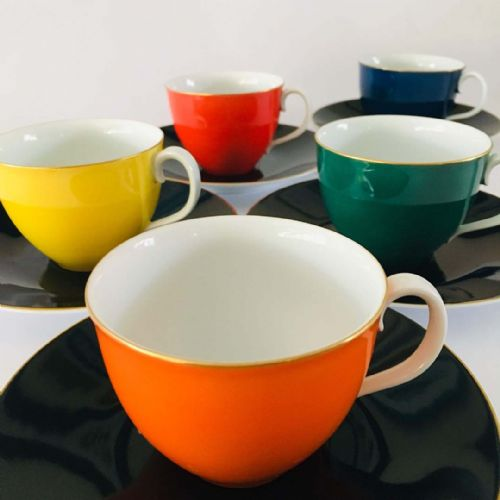 Noritake - Bone China - Colourful Duo x 5